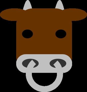 シンプルなウシ水牛乳牛肉牛のイラスト イラストカットcom
