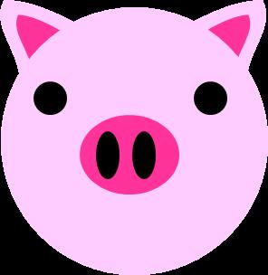 シンプルなブタ豚のイラスト イラストカットcom