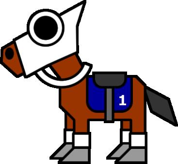 競走馬のイラストフリー素材 イラストカットcom