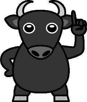 黒和牛のイラスト