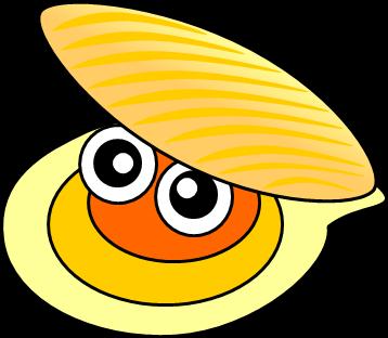 貝のイラスト1 イラストカットcom
