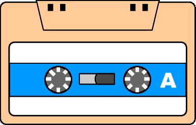 カセットテープのイラスト イラストカットcom