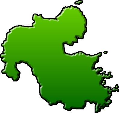 大分県のイラスト|フリー素材 ... : 日本地図 形 : 日本