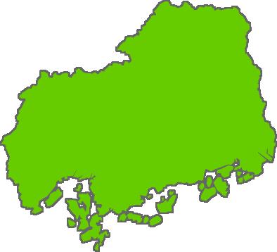 広島県のイラスト|フリー素材 ... : 都道府県 日本地図 : 日本