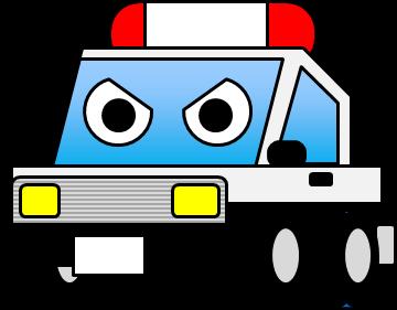 緊急車両のイラスト(1)