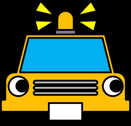 パトロールカーのイラスト イラストカットcom