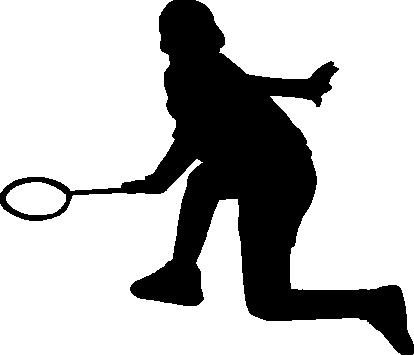 バドミントンのシルエット フリー 無料で使えるイラストカット Com
